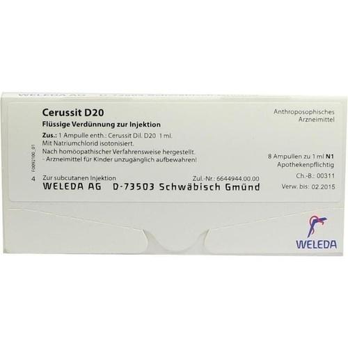 CERUSSIT D 20 Ampullen, 8X1 ML, WELEDA AG
