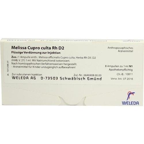 MELISSA CUPR CUL RH D 2, 8X1 ML, Weleda AG