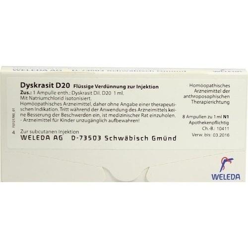 DYSKRASIT D20, 8X1 ML, Weleda AG