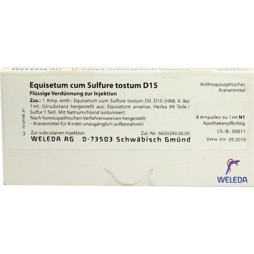 EQUISETUM C SULF TOST D15, 8X1 ML, Weleda AG