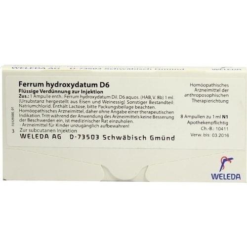 FERRUM HYDROXYDAT D 6, 8X1 ML, Weleda AG