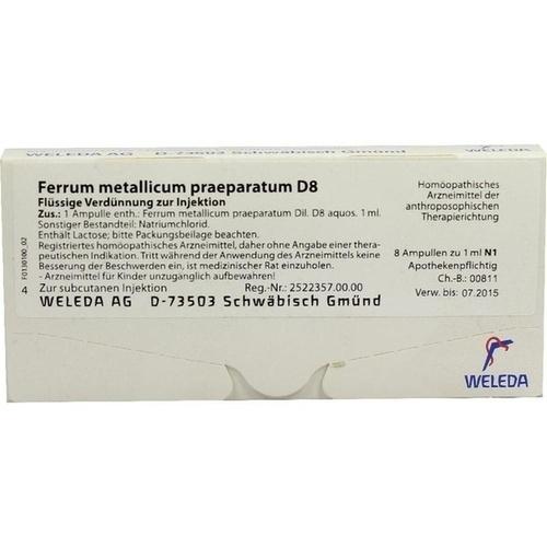 FERRUM MET PRAEP D 8, 8X1 ML, Weleda AG