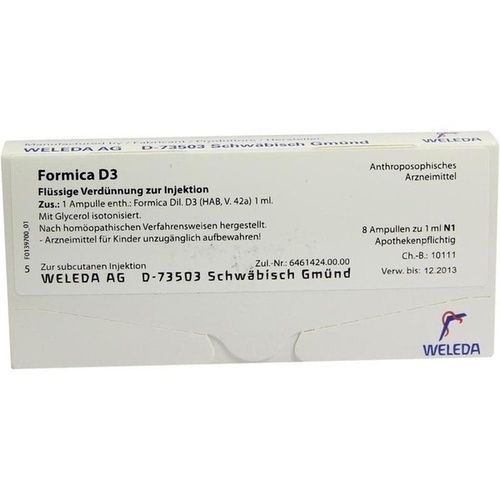 FORMICA D 3, 8X1 ML, Weleda AG