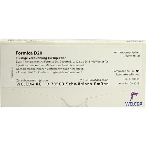 FORMICA D20, 8X1 ML, Weleda AG