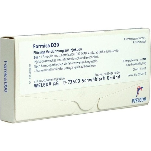 FORMICA D30, 8X1 ML, Weleda AG