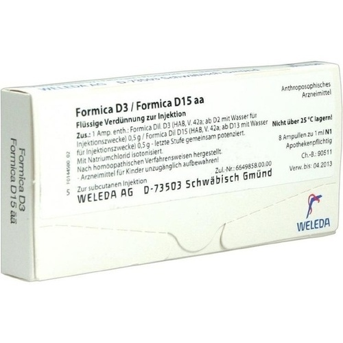 FORMICA D 3 FORMICA D15, 8X1 ML, Weleda AG