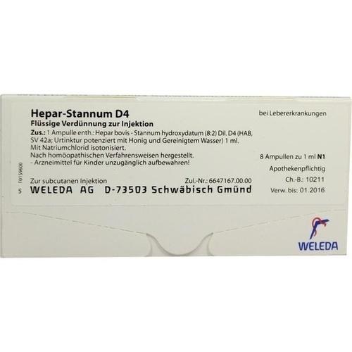 HEPAR STANNUM D 4, 8 ST, Weleda AG