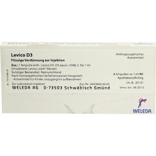 LEVICO D 3, 8X1 ML, Weleda AG