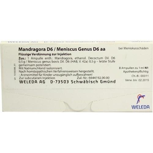 MANDRAGORA D 6 MEN GEN, 8X1 ML, Weleda AG
