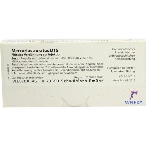MERCURIUS AURATUS D15, 8X1 ML, Weleda AG