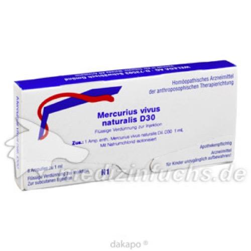 MERCURIUS VIVUS NATUR D30, 8X1 ML, Weleda AG