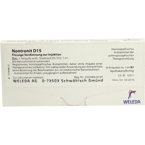 NONTRONIT D15, 8X1 ML, Weleda AG