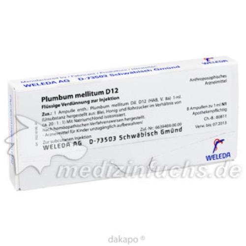 PLUMBUM MELLITUM D12, 8X1 ML, Weleda AG
