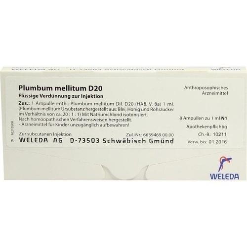 PLUMBUM MELLITUM D20, 8X1 ML, Weleda AG