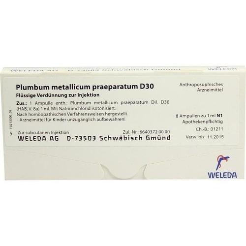 PLUMBUM MET PRAEP D30, 8X1 ML, Weleda AG