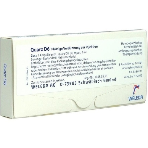 QUARZ D 6, 8X1 ML, Weleda AG