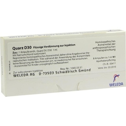 QUARZ D30, 8X1 ML, Weleda AG