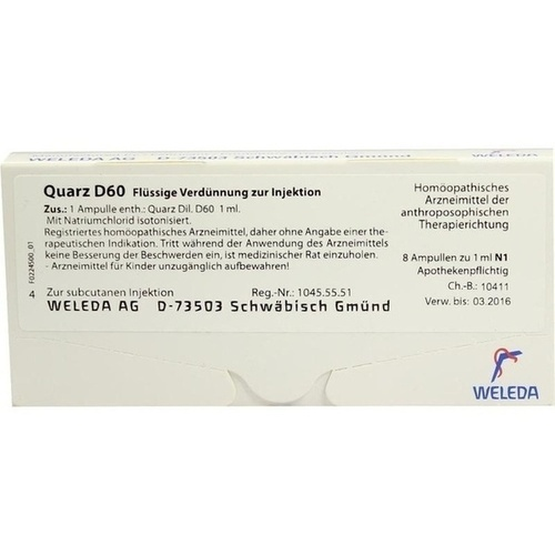 QUARZ D60, 8X1 ML, Weleda AG
