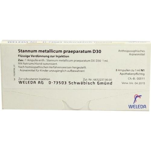 STANNUM MET PRAEP D30, 8X1 ML, Weleda AG
