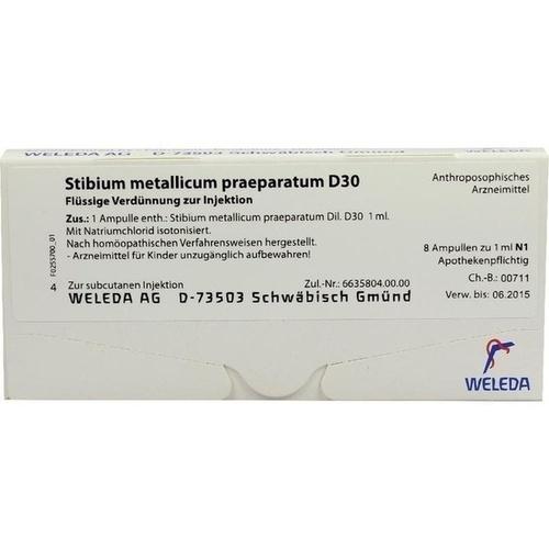STIBIUM MET PRAEP D30, 8X1 ML, Weleda AG