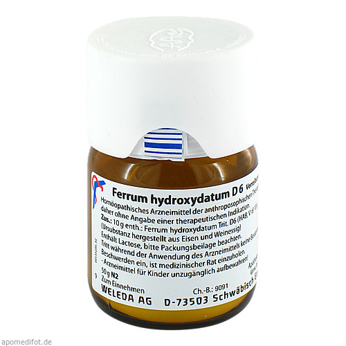 FERRUM HYDROXYDATUM D 6 Trituration, 50 G, WELEDA AG