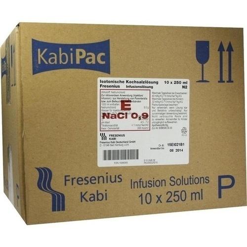KOCHSALZ 0.9% ISOTON PL, 10X250 ML, Fresenius Kabi Deutschland GmbH