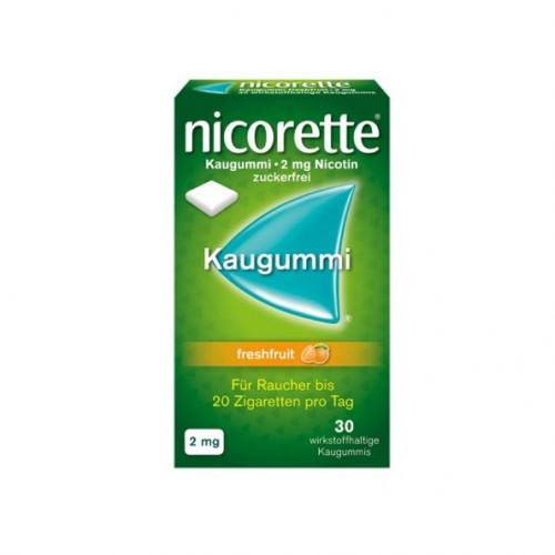 Nicorette 2mg Freshfruit Kaugummi, 30 ST, Johnson & Johnson GmbH (Otc)