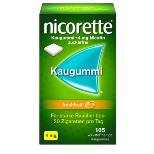 NICORETTE 4 mg freshfruit Kaugummi, 105 ST, Johnson & Johnson GmbH (OTC)
