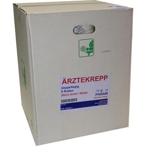 Aerztekrepp 50cmX50m Rolle, 9 ST, Param GmbH