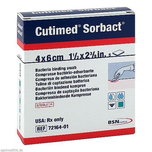 CUTIMED Sorbact Saugkompressen 4x6cm, 5 ST, Aca Müller/Adag Pharma AG
