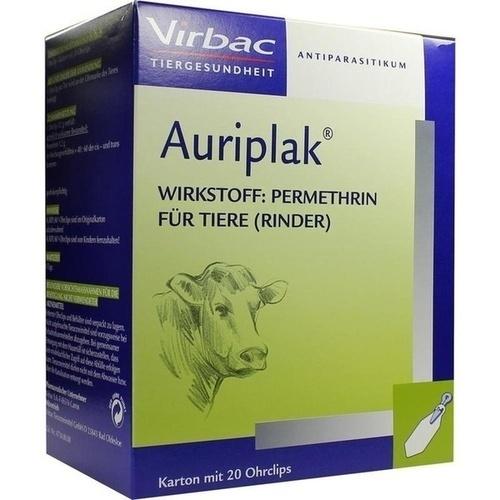 AURIPLAK Streifen f.Rinder, 20 ST, Virbac Tierarzneimittel GmbH
