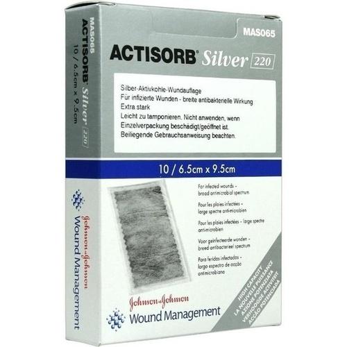 ACTISORB 220 Silver 9.5x6.5cm steril, 10 ST, Eurimpharm Arzneimittel GmbH