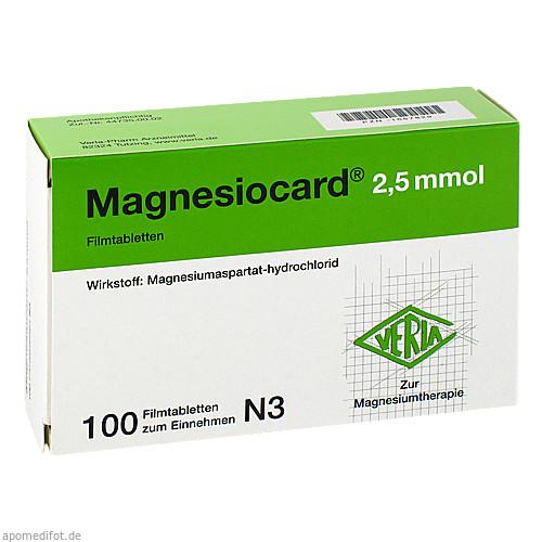 Magnesiocard 2.5mmol, 100 ST, Verla-Pharm Arzneimittel GmbH & Co. KG
