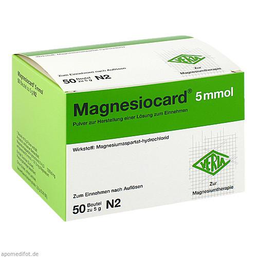 Magnesiocard 5mmol, 50 ST, Verla-Pharm Arzneimittel GmbH & Co. KG