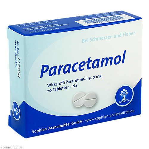 Paracetamol Sophien 500, 20 ST, Sophien Arzneimittel GmbH