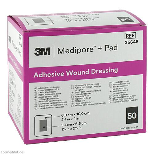 Medipore plus Pad steriler Wundverband 3564E, 50 ST, 3M Medica Zweigniederlassung der 3M Deutschland GmbH