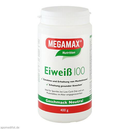 Eiweiss 100 Neutral MEGAMAX, 400 G, Megamax B.V.