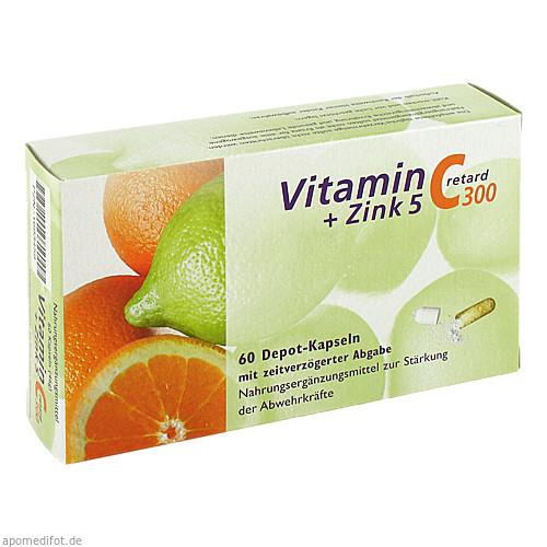 Vitamin C 300 + Zink 5 retard, 60 ST, Dr. Zinke Diätetika GmbH