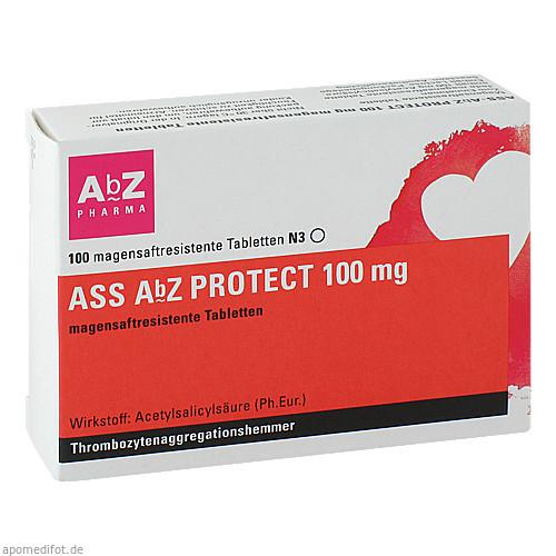 ASS AbZ PROTECT 100 mg magensaftresistente Tabl, 100 ST, Abz-Pharma GmbH