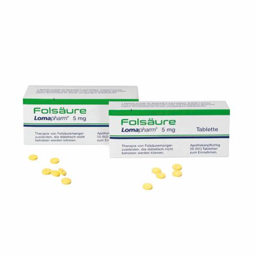 Folsäure Lomapharm 5mg, 20 ST, LOMAPHARM GmbH