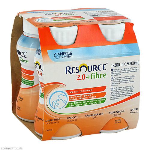 Resource 2.0 fibre Aprikose, 4X200 ML, Nestle Health Science (Deutschland) GmbH