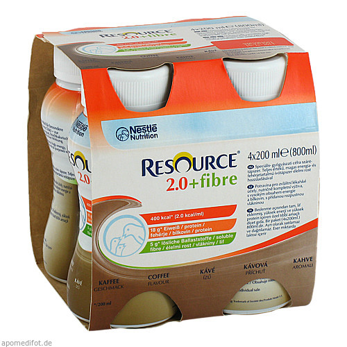 Resource 2.0 fibre Kaffee, 4X200 ML, Ghd Direkt Ii GmbH Vertriebslinie Nestle