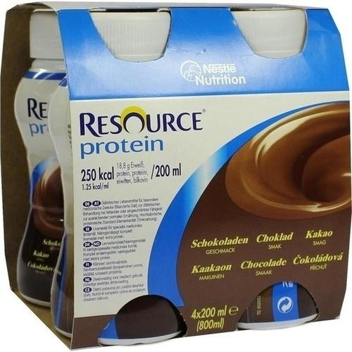 Resource Protein Schokolade neue Rezeptur, 4X200 ML, Ghd Direkt Ii GmbH Vertriebslinie Nestle