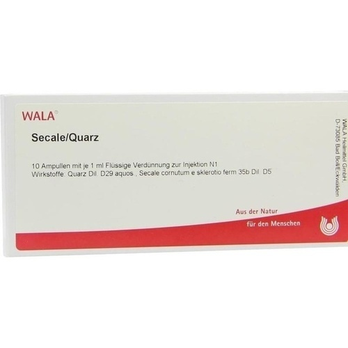 SECALE/QUARZ, 10X1 ML, Wala Heilmittel GmbH