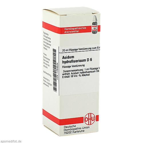 ACIDUM HYDROFLUOR D 6, 20 ML, Dhu-Arzneimittel GmbH & Co. KG