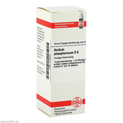ACIDUM PHOS D 6, 20 ML, Dhu-Arzneimittel GmbH & Co. KG