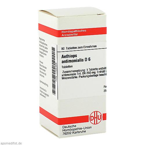 AETHIOPS ANTIMON D 6, 80 ST, Dhu-Arzneimittel GmbH & Co. KG
