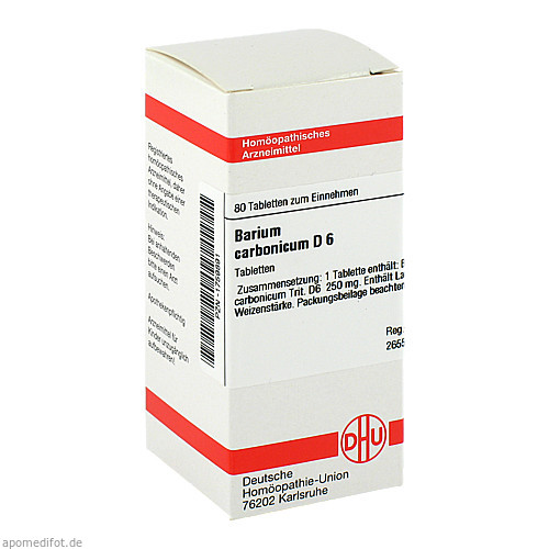 BARIUM CARB D 6, 80 ST, Dhu-Arzneimittel GmbH & Co. KG