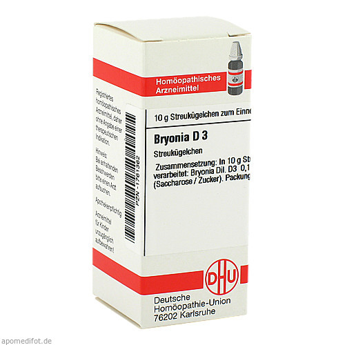 BRYONIA D 3, 10 G, Dhu-Arzneimittel GmbH & Co. KG