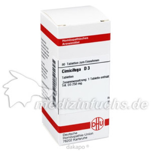 CIMICIFUGA D 3, 80 ST, Dhu-Arzneimittel GmbH & Co. KG